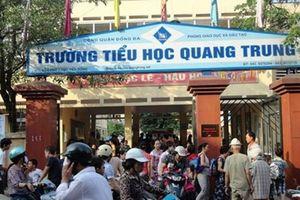 Vì sao Ban giám hiệu trường Tiểu học Quang Trung né tránh báo chí?
