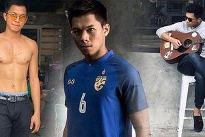 'Công thần' điển trai của tuyển Thái Lan: Đá bóng hay, chơi đàn giỏi, body khủng