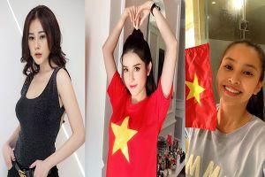 Việt Nam 2-1 Philippines: Các nàng hoa hậu 'vui điên đảo' với kết quả