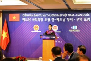 Chủ tịch QH Việt Nam và Hàn Quốc dự Diễn đàn đầu tư và thương mại song phương