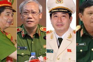 2 trung tướng, 2 thiếu tướng bị kỷ luật cảnh cáo