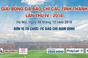 Ngày mai, khởi tranh Giải bóng đá báo chí các tỉnh thành lần thứ IV