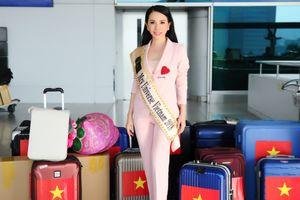 Hoa hậu Châu Ngọc Bích rạng rỡ ngày lên đường dự thi Mrs Universe 2018