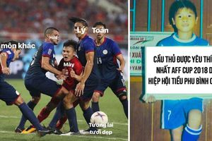 Dân mạng chế ảnh hài hước về những tình huống Quang Hải bị 'đốn' lia lịa trên sân bóng