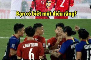 Ảnh chế Trọng 'gắt', Quang Hải được 4 cầu thủ Philippines xin chữ ký