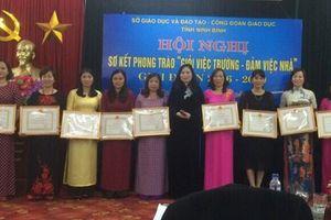 Ninh Bình: Khen thưởng về thành tích 'Giỏi việc trường, đảm việc nhà'