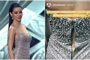 Đại diện Philippines bị kẻ xấu giật hỏng khóa váy ngay trong chung kết Hoa hậu Siêu quốc gia 2018