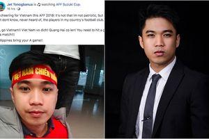 Giảng viên Philippines gây sốt khi cổ vũ thầy trò Park Hang Seo: 'Tự hào vì đội nhà nhưng trái tim tôi đã dành cho Việt Nam'