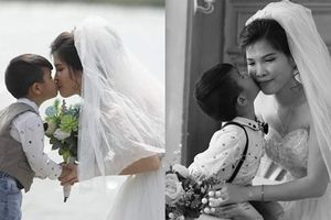 Xúc động câu chuyện ẩn sau bộ ảnh cưới mẹ đơn thân chụp cùng con trai