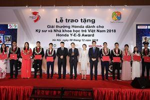 10 kỹ sư và nhà khoa học trẻ Việt Nam nhận giải thưởng Honda Y-E-S