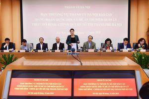 TP Hà Nội báo cáo Đảng đoàn Quốc hội về Đề án thí điểm quản lý theo mô hình chính quyền đô thị
