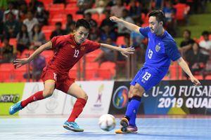 Tuyển U20 futsal Việt Nam hòa đáng tiếc trước Thái Lan