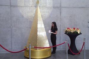 Choáng ngợp với cây thông Noel đắt nhất Châu Âu làm từ 63kg vàng