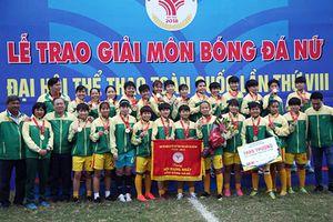 TP Hồ Chí Minh giành HCV nội dung bóng đá nữ