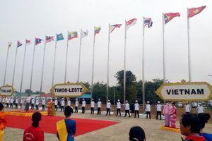 Quốc kỳ Việt Nam tung bay tại ASEAN University Games 19