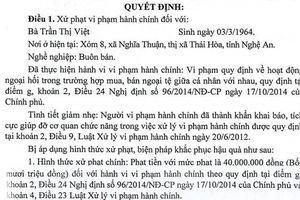 Hai phụ nữ ở Nghệ An bị phạt 80 triệu đồng vì mua bán 100 USD