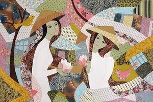 'Tôi vẽ giấc mơ': Hô biến vải vụn thành tác phẩm hội họa