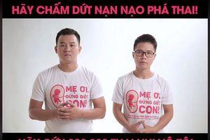 Tranh cãi hai chàng trai phát động chiến dịch kêu gọi 'luật cấm nạo phá thai'