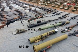 Quân đội Syria tiếp tục thu hoạch vũ khí ở al-Quneitra, tây Ghouta và núi lửa al-Safa