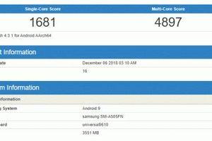 Samsung Galaxy A50 lộ diện điểm chuẩn vượt mặt đối thủ tầm trung