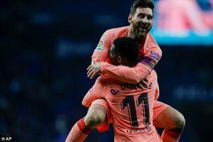 Messi rực sáng, Barca thắng 4 sao trước Espanyol