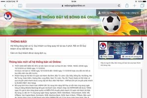 Vừa mở bán online, vé trận Việt Nam – Malaysia hết trong 5 phút