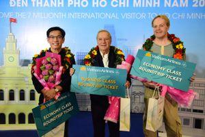 TPHCM đón vị khách quốc tế thứ 7 triệu