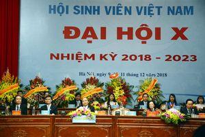 Khai mạc trọng thể Đại hội đại biểu Hội Sinh viên Việt Nam lần thứ X, nhiệm kỳ 2018-2023