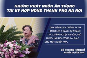 Những phát ngôn ấn tượng tại Kỳ họp HĐND TP Hà Nội