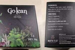Thu hồi thực phẩm bảo vệ sức khỏe Go Lean Detox và kem trắng da mặt X2