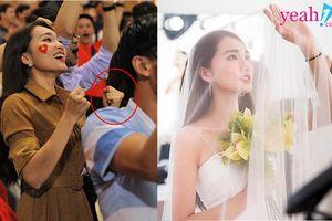 Ngọc Nữ công khai đeo nhẫn kim cương ở ngón áp út, dân mạng đồn đoán Phan Văn Đức sắp 'theo vợ bỏ cuộc chơi'