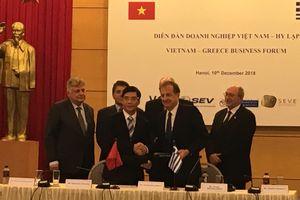 Hy Lạp sẽ hỗ trợ Việt Nam phát triển kỹ thuật công nghiệp và cơ sở hạ tầng