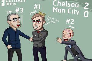 Biếm họa 24h: Arsenal, Liverpool đội ơn Chelsea, Man City bị châm biếm