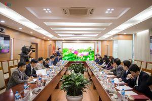 Lãnh đạo Đài TNVN làm việc với đoàn công tác tỉnh Điện Biên