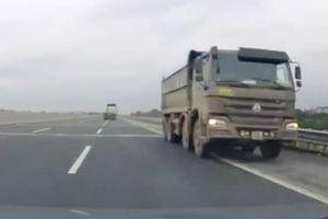 Vì sao không truy tìm được xe tải chạy ngược chiều vun vút trên cao tốc Hà Nội - Hải Phòng?