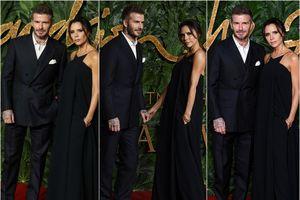 Vợ chồng David Beckham tình tứ trên thảm đỏ 'British Fashion Awards 2018'