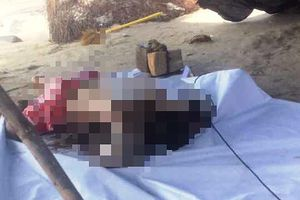 Phát hiện 1 thi thể bị cột đá vào chân trôi trên biển