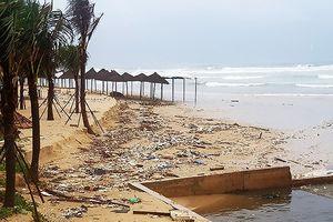 Đến Chủ nhật 16/12, bãi biển Đà Nẵng sẽ sạch rác tấp vào sau mưa ngập kỷ lục