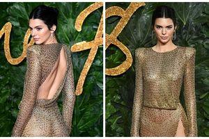 Kendall Jenner tiếp tục làm 'bỏng' mắt người xem khi diện thiết kế không nội y