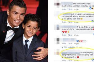Đăng ảnh mừng sinh nhật con trai, Ronaldo bị fan cuồng Việt Nam 'khủng bố' Facebook