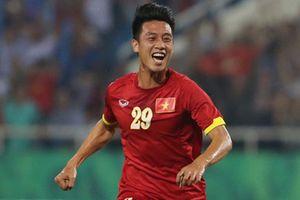 Tiền vệ Huy Hùng - Từng bị loại ở AFF CUP 2014 nay là người mở màn tỉ số cho trận Việt Nam - Malaysia
