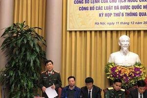 Công bố Lệnh của Chủ tịch nước về 9 Luật mới được thông qua