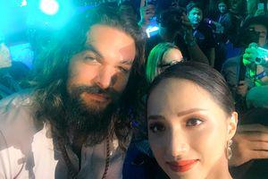 Hoa hậu Chuyển giới Hương Giang thích thú gặp gỡ 'Aquaman' Jason Momoa ngoài đời
