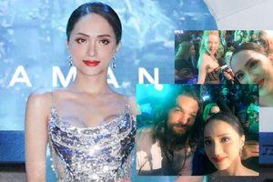 Hương Giang diện váy ánh kim lấp lánh chụp ảnh với Jason Momoa, đọ vẻ quyến rũ với Amber Heard