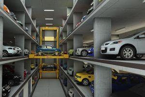Bãi đỗ tự động giúp gửi và lấy xe trong một nốt nhạc