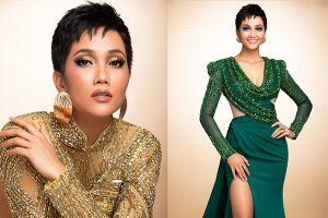 H'Hen Niê thử váy dạ hội, đẹp bí ẩn như nữ hoàng Ai Cập cổ đại