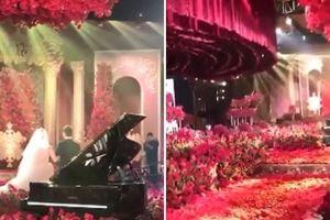 Đám cưới ngập tràn hoa hồng khiến chị em chia sẻ rần rần