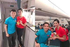 Thông tin nữ tiếp viên hàng không 'xinh như mộng' chụp ảnh cùng tuyển Việt Nam