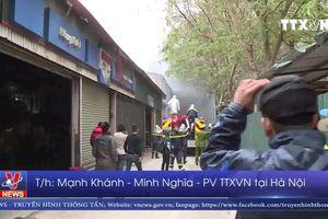 Cháy lớn Gara ô tô gần khu vực Liên đoàn bóng đá Việt Nam