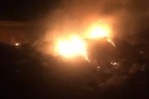 Huyện Vĩnh Tường, Vĩnh Phúc: Lò đốt tắt, bãi rác vẫn cháy ngùn ngụt